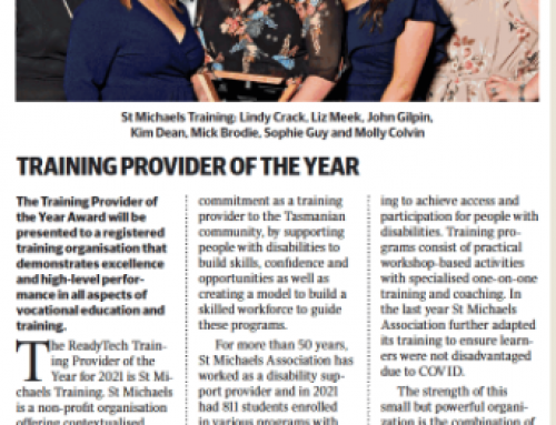 St Michaels Training Cleans Up at the 2021 Tasmanian Training Awards